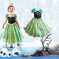 Cosplay Kostuums Prinses / Sprookje Film Cosplay Groen Patchwork  Kleding Halloween / Kerstmis / Nieuwjaar Kind Katoen / Chiffon