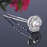 Beautiful Alloy/Imitation Pearls Hairpins (Set of 3)