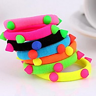 Rivet Fluorescent Colors Elastic Hair Ties Hairbands