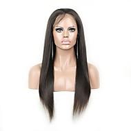 """unprocess 8 """"-24"""" yaki rett brasilianske menneskehår full blonder parykker"""