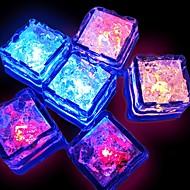 12st Wassersensor multi Farben, die LED-Eiswürfel Ereignis Partei führte leuchtende LCEs für Hochzeitsdekoration Schwimmbad Brunnen