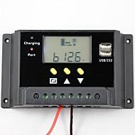 30a PWM Solarsteuerpult Batterieladeregler Dual USB 12V 24V lcd
