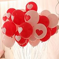 10Pcs Heart-shaped Balloon Wedding Balloon Printing Photos Marry Fashion Balloon Love Balloon