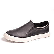 Men's Shoes Outdoor / Athletic / Casual Leather Loafers Black