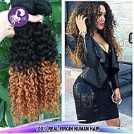 3pcs / lot brasiliani in profondità i capelli ricci ombre vergini 1b / 30 due tonalità di colore dei capelli umani di estensioni commerci