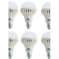 Zweihnder® 6Pcs E27 9W 850LM 6000-6500K 28x3528 SMD White Light Bulb Lamp(90-265V)