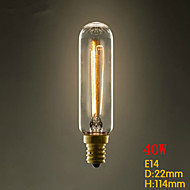 T22 Tube E14 220V-240V 40W E27 Edison Screw Light Bulb Little Retro Chandeliers Light Industry