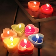 2Pcs Heart-shaped Candle Boxed High-grade Pvc Scented Candles Tea Wax Romantic Courtship Confession Heart