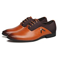 אוקספורד גברים של נעליים חתונה / משרד ועבודה / מסיבה וערב עור שחור / חום / כתום
