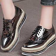 Women's Shoes Patent Leather Platform Creepers Heels Office & Career / Party & Evening / Dress / Casual Black / Gold