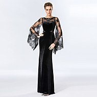 Formal Evening Dress Sheath/Column Scoop Floor-length Velvet