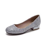 נעלי נשים - בלרינה\עקבים - דמוי עור - עקבים / מעוגל - שחור / לבן / כסוף / זהב - משרד ועבודה / קז'ואל / שמלה - עקב עבה