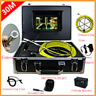 """Endoscope Pipeline Inspection System 7"""" 30M Drain Sewer Waterproof Camera with 12 LED Lights"""