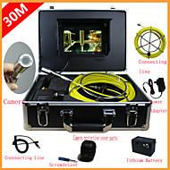 """endoskop rørledning inspektion systemet 7"""" 30m afløb kloak vandtæt kamera med 12 led-lamper"""