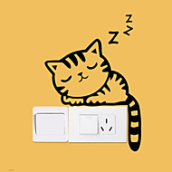 Wall Stickers Wall Decals Style New Cartoon Cat Switch Waterproof Removable PVC Wall Stickers