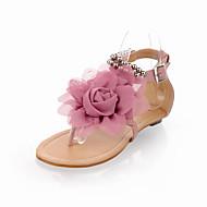 Sandály - Koženka - Pohodlné - Dámská obuv - Modrá / Růžová / Béžová - Outdoor / Šaty / Běžné - Plochá podrážka