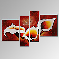 VISUAL STAR®Modern 4 Panel Oil Painting Flower Home Wall Decor Artwork Ready to Hang