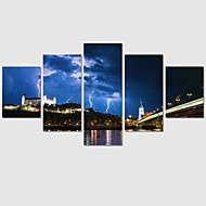 5 Panel Modern Printed Night Scenery Painting Pictures On The Wall Cuadros Canvas Art Painting For Living Room No Frame