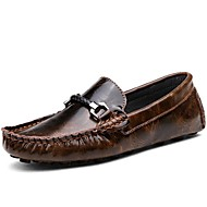 Men's Shoes Office & Career / Party & Evening / Athletic / Dress / Casual Leather Loafers Brown / Red