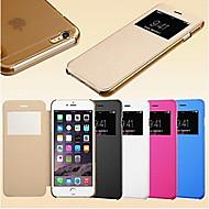 iphone 6S 6のためのスマートビュー画面タッチPUレザーケースプラス