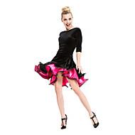 Latin Dance Dresses&Skirts Women's Performance Velvet / Viscose Ruched 1 Piece 5 Colors