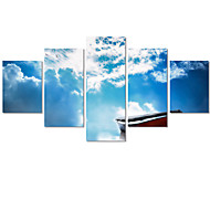 5 Panels(No Frame)The Blue Sky Landscape Home Wall Decor Painting Canvas Art HD Print Canvas Art Picture