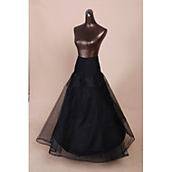 Slips A-Line Slip Floor-length Tea-Length 2 Tulle Netting Polyester Black