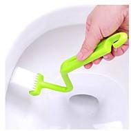 s Typ WC-Bürste Biege Ecke Reinigungsbürsten geschwungene closes Pinsel-Werkzeug für Badezimmer (zufällige Farbe)