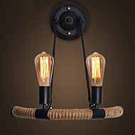 E27 40*43CM 10-15㎡European Contracted Retro Hemp Rope Wall Lamp Led Lights