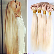8a ryska blonda oskuld hår bunt erbjudanden brasilianska blont rakt hår väva 3st 613 blonda hårförlängningar
