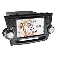 8 Inch Double Din Quad Core Pure Android 4.4 Car DVD Player for Toyota Highlander 2008-2011 with RDS,WIFI,BT,1024*600