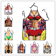 ALL BLUE High Quality Fashion Fun Wacky Sexy Kitchen Cooking 3D Printed Apron