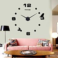 Zegar 3d wysokiej jakości milczy podłubać ściana projekt nowoczesny 12s006