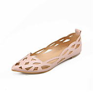 Women's Shoes Patent Leather Flat Heel Pointed Toe Flats Outdoor / Dress / Casual Blue / Pink / White