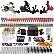 Solong Tattoo Complete Tattoo Kit 3 Pro Machines 54 Inks Power Supply Foot Pedal Needles Grips Tips TK355