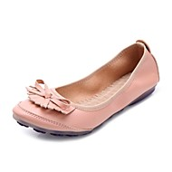 Women's Shoes Leatherette Flat Heel Comfort Flats Office & Career / Dress / Casual Yellow / Pink / Silver