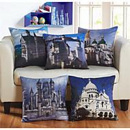 Baolisi Set of 5 3D  European architecture world series  Decorative Pillow /European fashion