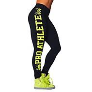 Yoga broek Kleding Onderlichaam / Fietsen Tights / Broeken / Legging Ademend / Compressie / Zweetafvoerend Natuurlijk Rekbaar Sportkleding