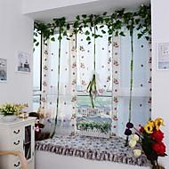 Um Painel Europeu Curva / Videira Como na Imagem Sala de Estar Poliéster Sheer Curtains Shades
