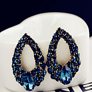 May Polly  Europe and the United States drops Diamond Sapphire Fashion Earrings