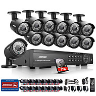 Annke® 16CH 1080P DVR CCTV Outdoor IR Home Security Camera System with 2TB Hard Drive