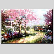 pinturas a óleo de lona de material da paisagem com moldura esticada pronto para pendurar tamanho 90 x 60cm