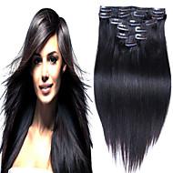 # 1b peruánský panenské vlasy 10ks útku klip na prodlužování vlasů 100% Remy prodlužování vlasů rovné vlasy peruánský virgin