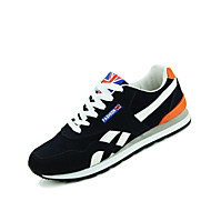 Men's Sneakers Spring / Summer / Fall / Winter Comfort PU Casual Flat Heel Lace-up Black / Blue / Red / Orange Walking