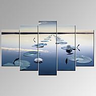 אומנות פופ נסיעות Fantasy צילום פטריוטי מודרני רומנטי חמישה פנלים אופקי דפוס דקור קיר For קישוט הבית