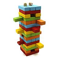 træ farverige blokke puslespil domino brætspil hjernen spil