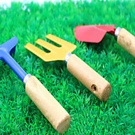Gartengeräte Farbe dreiteilige Schaufel Rechen Spaten