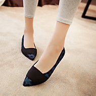 Women's Shoes Flat Heel Pointed Toe Flats Casual Blue / Brown / Almond
