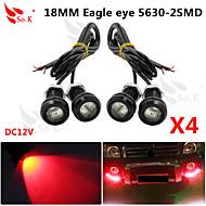 водить орлиный глаз в дневное время резервного копирования работает DRL свет тумана автомобиль авто красный 12v 9w 18мм х 4