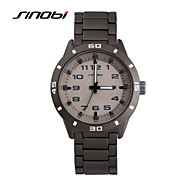 SINOBI® Gents Dress Wristwatches Watches Calendar Grey Band Digits Nails Men's Business Quartz Watch Montre Reloj Wrist Watch Cool Watch Unique Watch